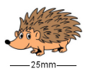Horizontal Hedgehog Badge