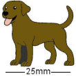 Brown Labrador Dog Badge