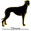 Greyhound Dog Badge Black