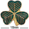 Lucky Irish Shamrock Clover Badge