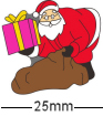 Father Christmas with Present Badge