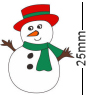 Snowman Red Hat Badge