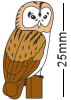 Owl on Stand Badge